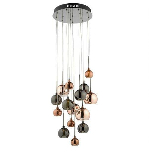 Aurelia 15 Light Pendant Copper  Dark Copper And Bronze (Class 2 Double Insulated) BXAUR1564-17